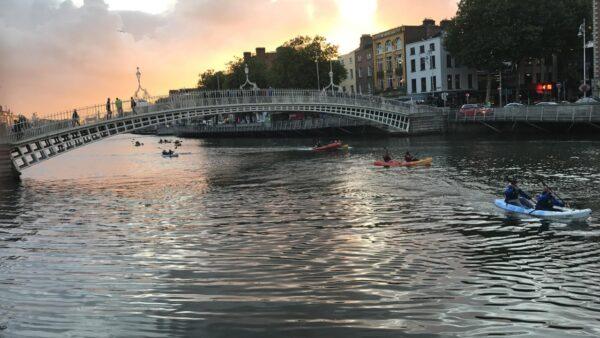 Kayaking on River Liffey
